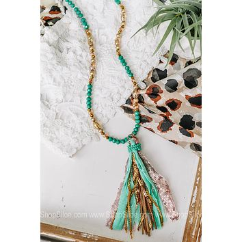 The Perfect Beaded Tassel Necklace