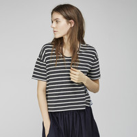 Double Stripe Cropped Tee by Organic By John Patrick