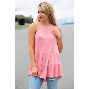 All my Love Tank-Coral