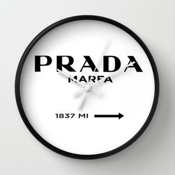 Prada Marfa I Wall Clock by Stephanie DuBois