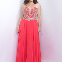 Sweetheart Plus Size Too Prom Dress by Blush 9104W