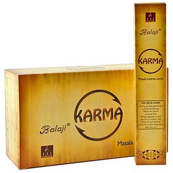 Balaji Karma Incense - 15 Gram Pack (12 Packs Per Box)