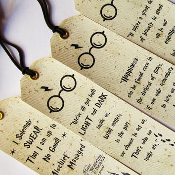 Harry Potter Bookmarks, Set of 4 pieces BOOKMARKS, Harry Potter quotes, Harry Potter Gift Ideas, Marauders Map, I Solemnly Swear