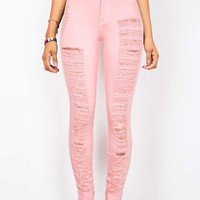 Torn Avalanche High Waist Skinny Jeans