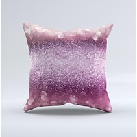 The Unfocused Pink Sparkling Orbs ink-Fuzed Decorative Throw Pillow