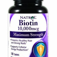 Natrol Biotin 10,000 mcg Maximum Strength Tablets, 100-Count