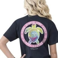 Simply Southern Save The Turtles Tee- Navy