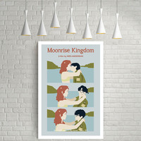 MOONRISE KINGDOM Suzy & Sam, Wes Anderson, Movie Poster Art.
