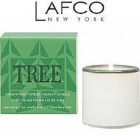 Lafco Candle Fresh Pine Forest Tree House Home Mini Holiday Candle 5 oz