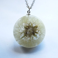 One True Dandelion Necklace 04 Resin by NaturalPrettyThings