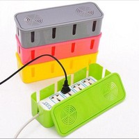 New Plastic Best Socket Cable Storage Box Wire Management Home Children Safety Tidy Organizer Supplies