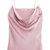 Protagonist - Draped hammered-charmeuse camisole