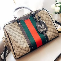 Hipgirls GUCCI Fashion New More Letter Leather Shoulder Bag Crossbody Bag Handbag