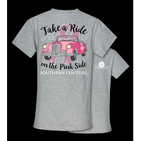 Southern Couture Preppy Take A Ride Breast Cancer T-Shirt