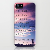 Philippians 4:13 in Nature iPhone & iPod Case by Caleb Troy