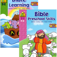 school zone bible learning & preschool skills book Case of 48