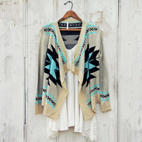 Smoke River Sweater in Turquoise