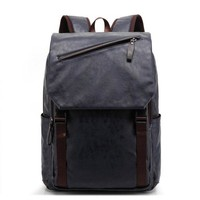 University College Backpack Pu Leather  Men's Casual & Travel Bags Leather Laptop Bag  Style s Mochila Zip MenAT_63_4
