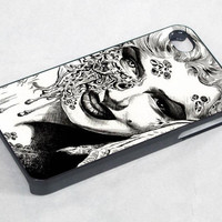 zombie marilyn monroe - iPhone 4 Case ,iPhone 5 case,samsung galaxy s3 and Samsung galaxy s4 Hard Plastic Case