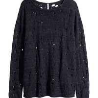 H&M - Pattern-knit Sweater - Black - Men