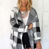 Maison Check Coat | SABO SKIRT
