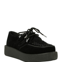 T.U.K. Black Suede Updated Creepers