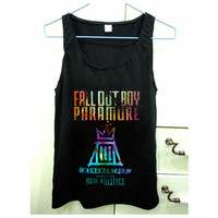fall out boy paramore design for Tank Top Mens and Tank Top Girls