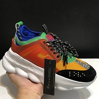 Versace Chain Reaction Men's and Women's Sneakers Shoes