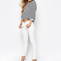 Noisy May Striped Boxy Shirt