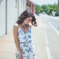 Sheer Floral Dress in Ivory