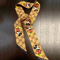 GUCCI x DISNEY joint retro long wild scarf