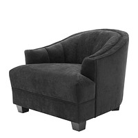 Black Curved Back Accent Chair | Eichholtz Polaris