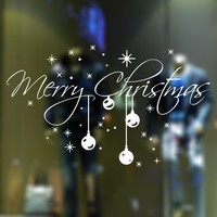 2016 New Christmas Decoration Glass Window Stickers Santa Claus And Snow Tree Sitting Room Bedroom Wall Stickers