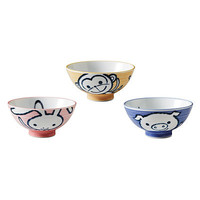 PIG, MONKEY AND BUNNY BOWLS - SET OF 3