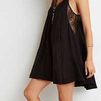 Lace-Paneled Cami Dress