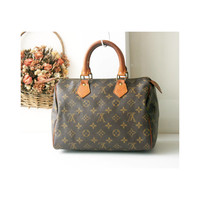 Louis Vuitton Monogram Speedy 25 handbag authentic vintage bag 80s