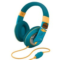 """Phineas and Ferb """"Agent P"""" Over-the-Ear Headphones with Volume Control, DF-M403"""