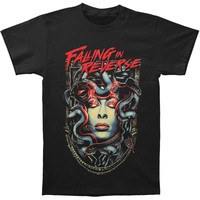 Falling In Reverse Men's  Medusa T-shirt Black Rockabilia