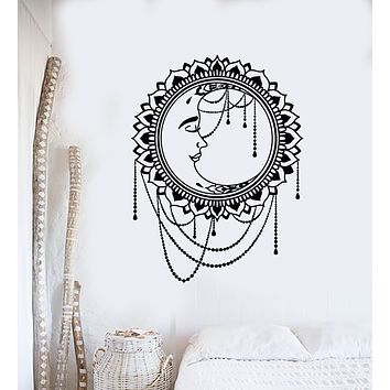 Vinyl Wall Decal Sun Moon Floral Ethnic Style Good Night Stickers Mural (g3200)