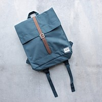 Herschel Supply - City Backpack | Mid-Volume - Indian Teal/Tan Synthetic Leather