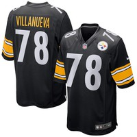 Men's Pittsburgh Steelers Alejandro Villanueva Nike Black Game Jersey