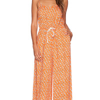 MINKPINK Ditty Floral Jumpsuit in Orange