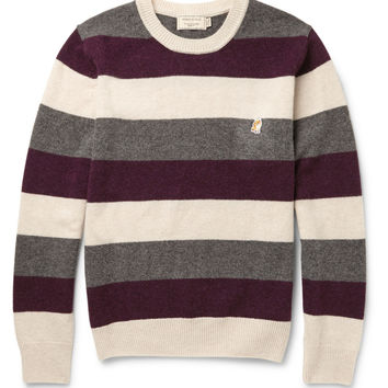 Maison Kitsuné - Striped Wool Sweater | MR PORTER