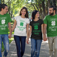 St Patricks day Shirt, Lucky Drinking Team, St. Patrick's Day T-shirt, Lucky Tshirt, Irish Top, St Patricks day Gifts, shamrock shirt drink