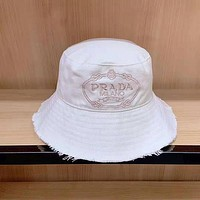 Prada Leisure Fashion Simple Letter embroidery Baseball Cap Couple Cap Sun Hat