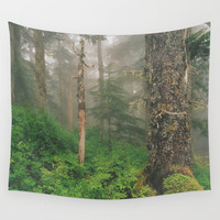 Foggy Forrest Wall Tapestry by Donovan Bennett Designs