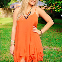 BOHO Chic Dress Orange