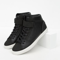 TECHNICAL HIGH-TOP SNEAKERS