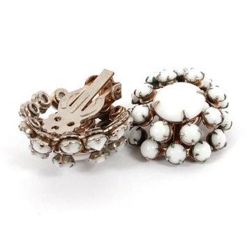 Vintage White Glam Earrings