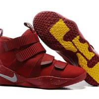 """Nike LeBron Soldier 11 EP """"Red Cavs"""" Basketball Shoes US7-12"""